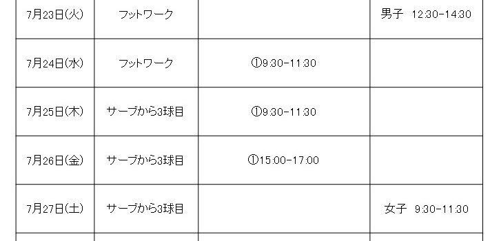 八戸卓球アカデミー 夏休みレベルアップ練習会