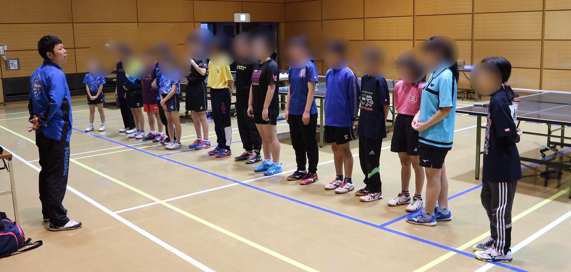 八戸卓球アカデミー 2019年練習終了しました
