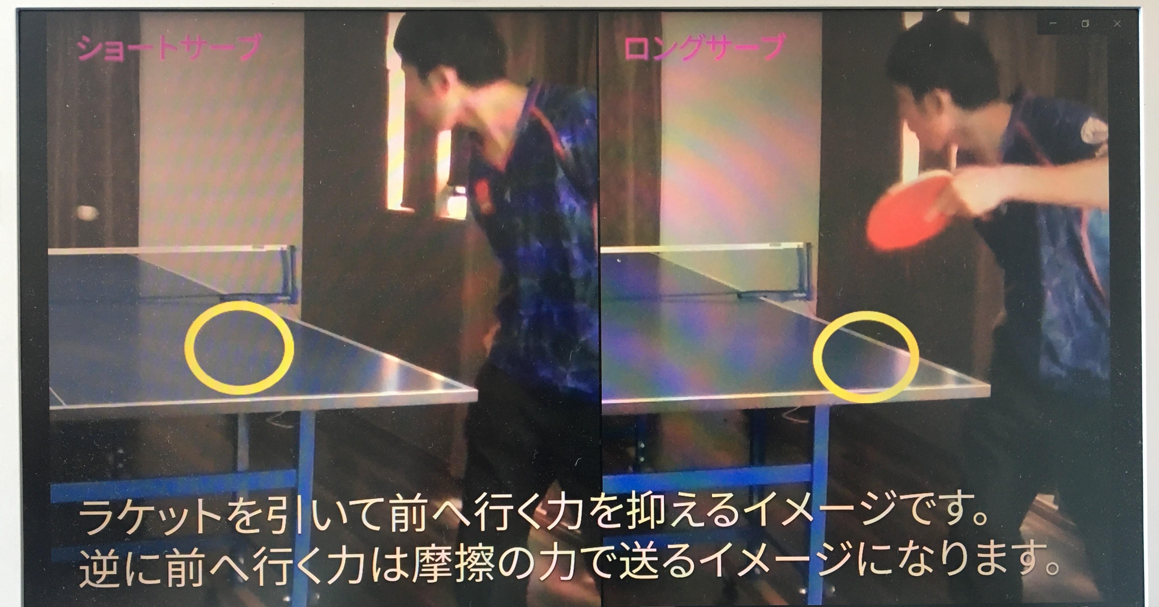 【卓球サーブ/動画】サーブ力を上げる